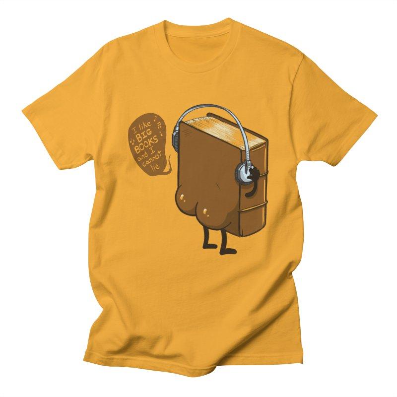 I like BIG BOOKS Men's Regular T-Shirt by Luke Wisner