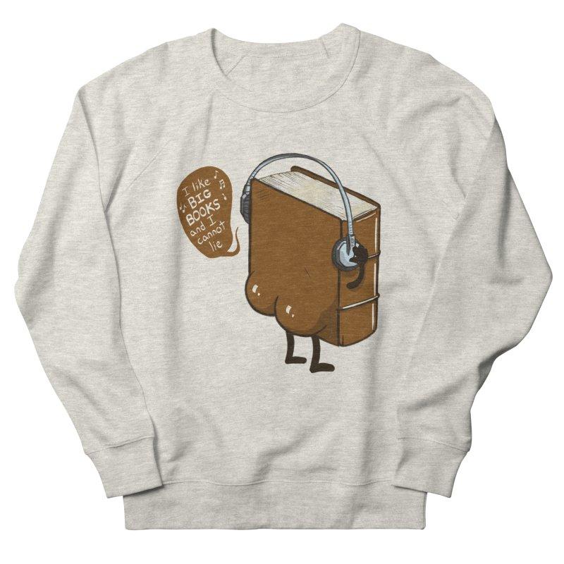I like BIG BOOKS Men's French Terry Sweatshirt by Luke Wisner