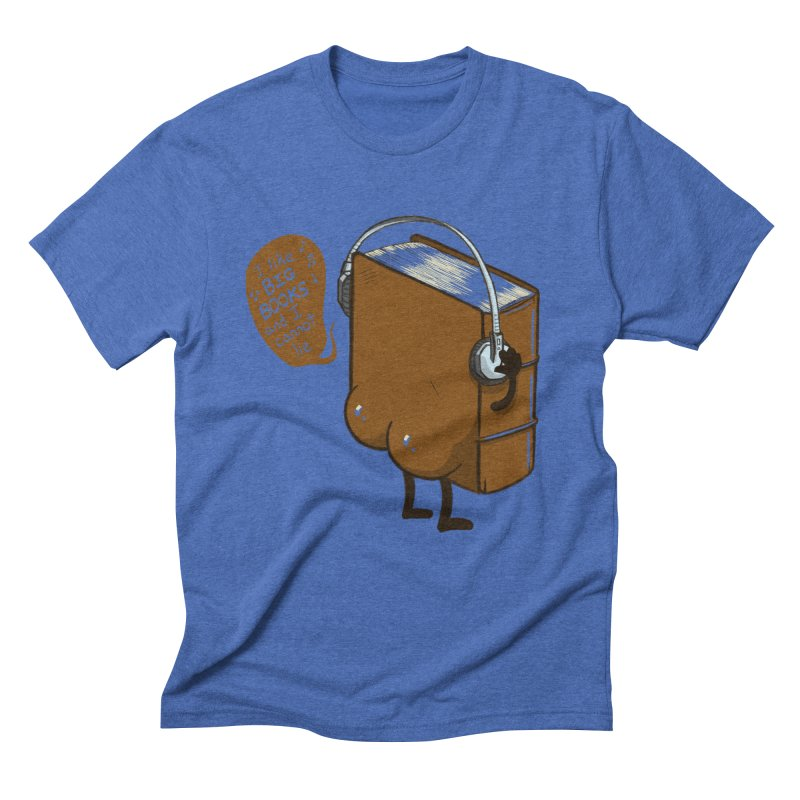 I like BIG BOOKS Men's Triblend T-Shirt by Luke Wisner