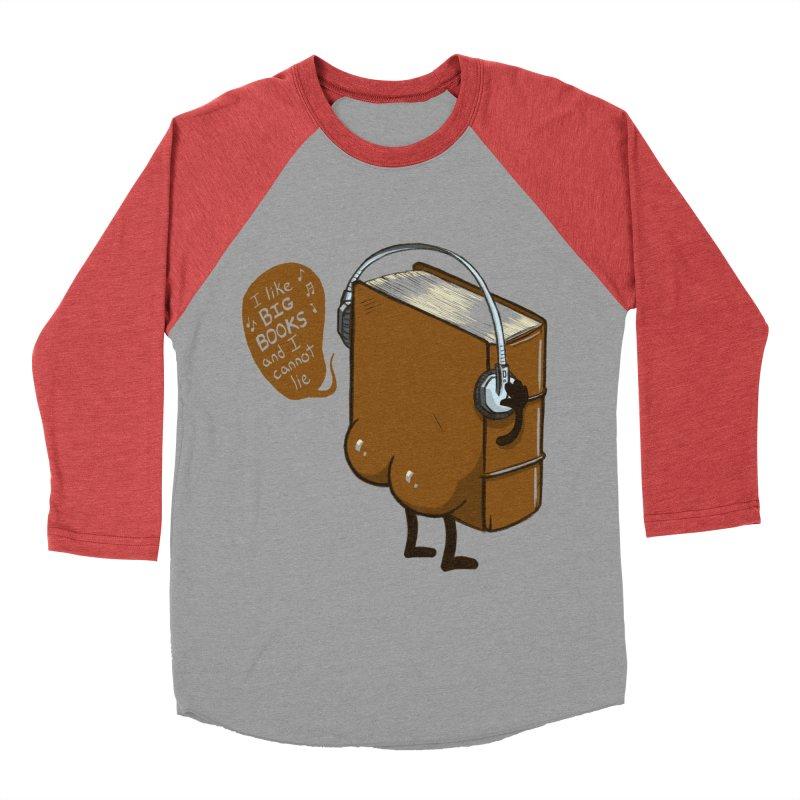 I like BIG BOOKS Women's Baseball Triblend Longsleeve T-Shirt by Luke Wisner