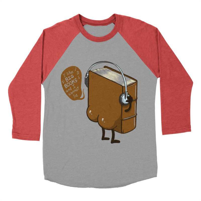 I like BIG BOOKS Men's Baseball Triblend Longsleeve T-Shirt by Luke Wisner