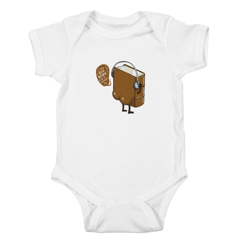 I like BIG BOOKS Kids Baby Bodysuit by Luke Wisner