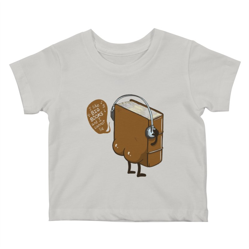 I like BIG BOOKS Kids Baby T-Shirt by Luke Wisner