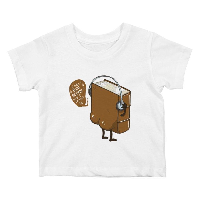 I like BIG BOOKS Kids Baby T-Shirt by Luke Wisner