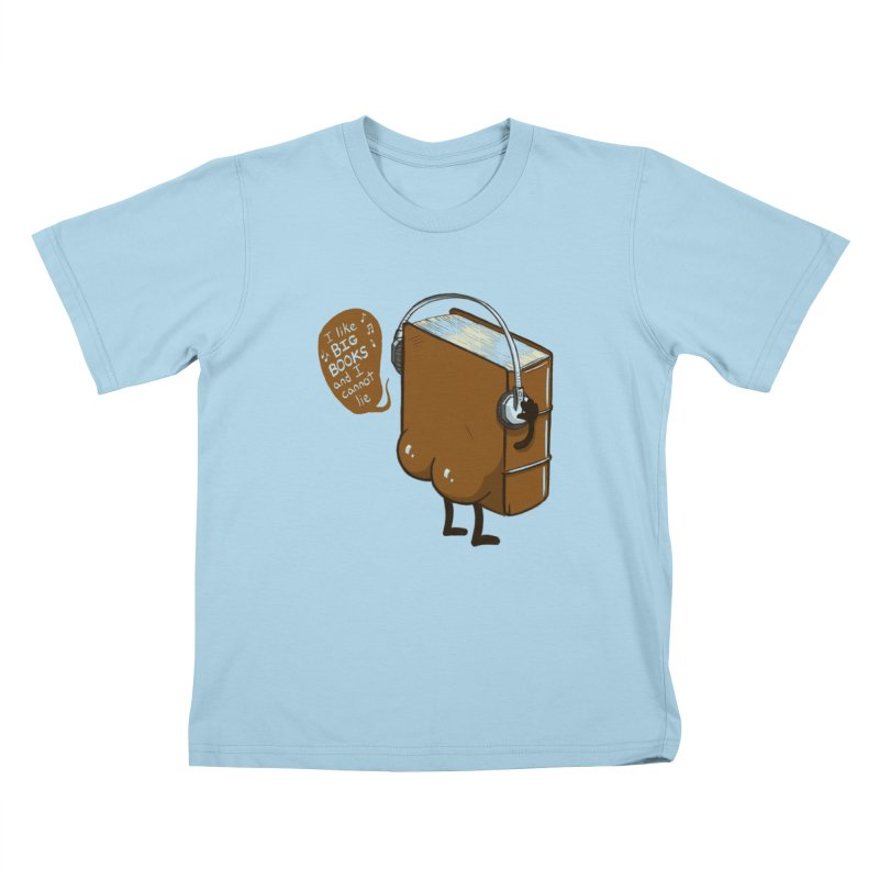 I like BIG BOOKS Kids T-Shirt by Luke Wisner