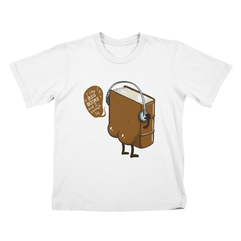I like BIG BOOKS Kids T-Shirt by Luke Wisner
