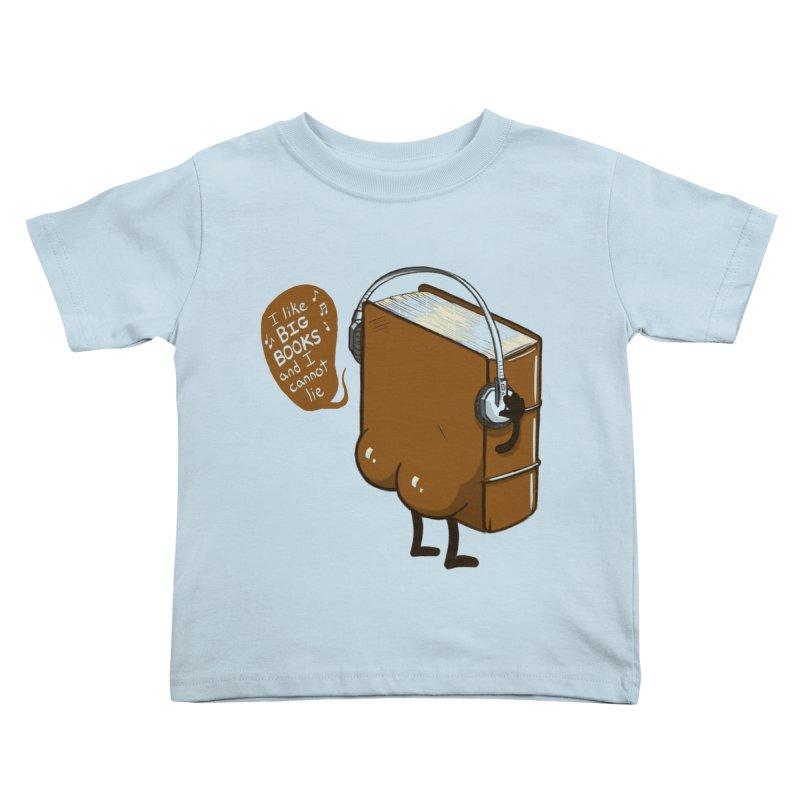 I like BIG BOOKS Kids Toddler T-Shirt by Luke Wisner