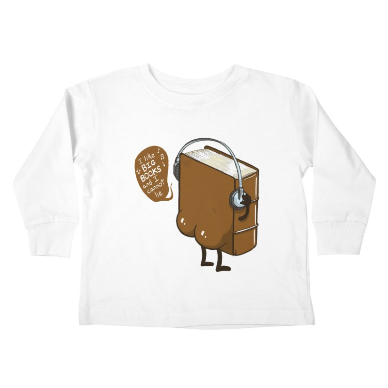 I like BIG BOOKS Kids Toddler Longsleeve T-Shirt by Luke Wisner