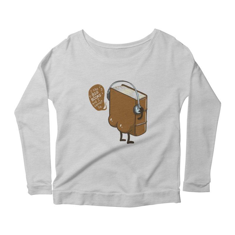 I like BIG BOOKS Women's Scoop Neck Longsleeve T-Shirt by Luke Wisner