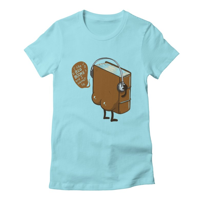 I like BIG BOOKS Women's Fitted T-Shirt by Luke Wisner