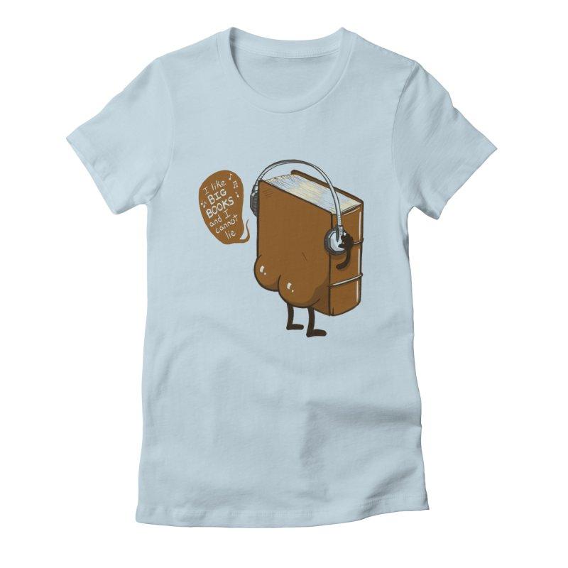 I like BIG BOOKS Women's Fitted T-Shirt by Luke Wisner