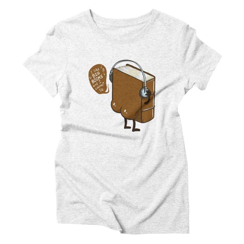 I like BIG BOOKS Women's Triblend T-shirt by Luke Wisner