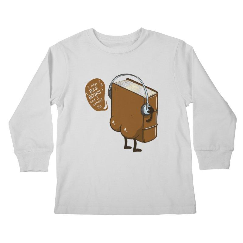 I like BIG BOOKS Kids Longsleeve T-Shirt by Luke Wisner