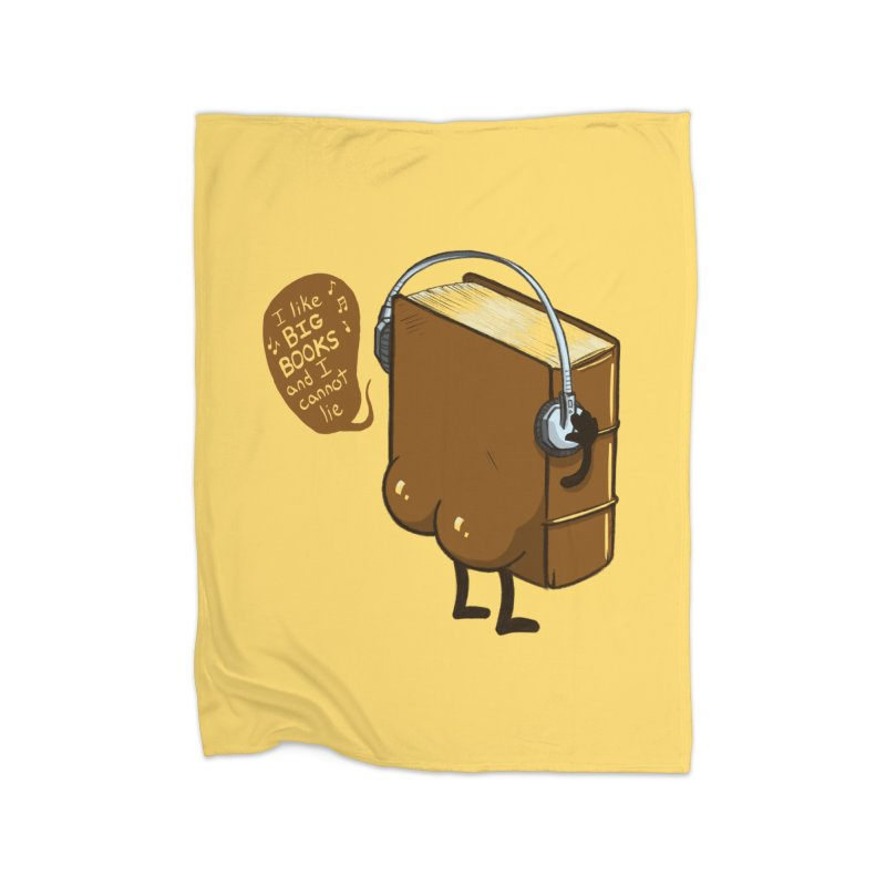 I like BIG BOOKS Home Blanket by Luke Wisner