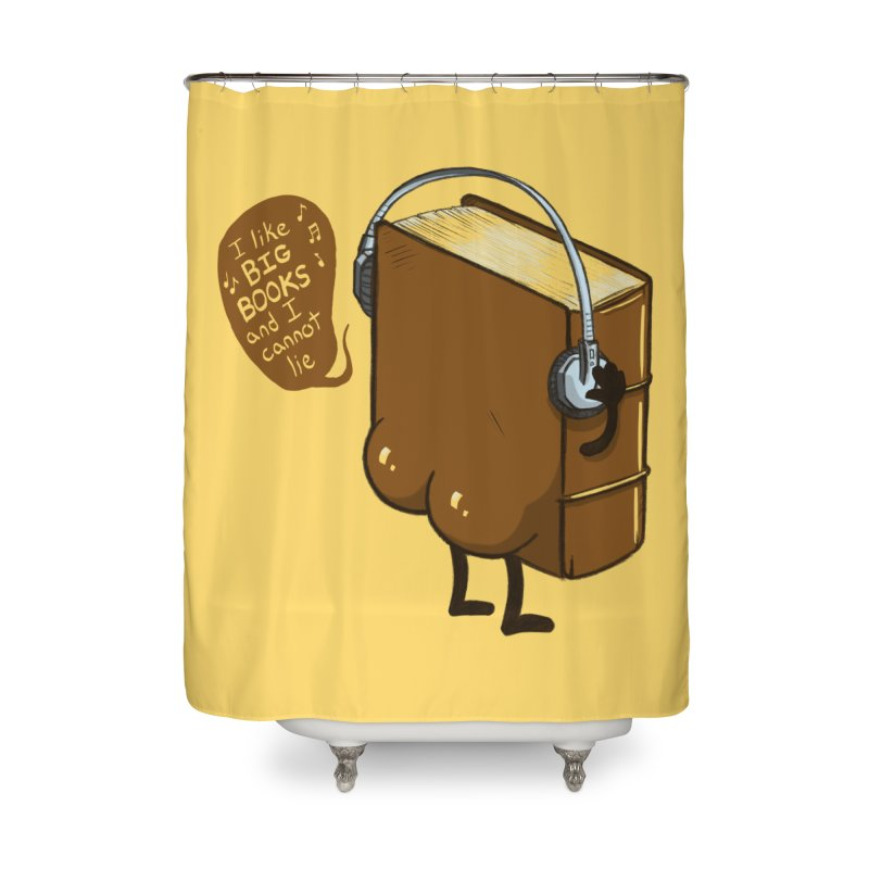 I like BIG BOOKS Home Shower Curtain by Luke Wisner