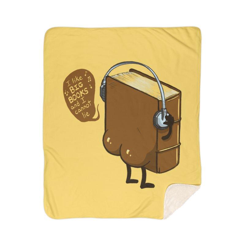 I like BIG BOOKS Home Sherpa Blanket Blanket by Luke Wisner