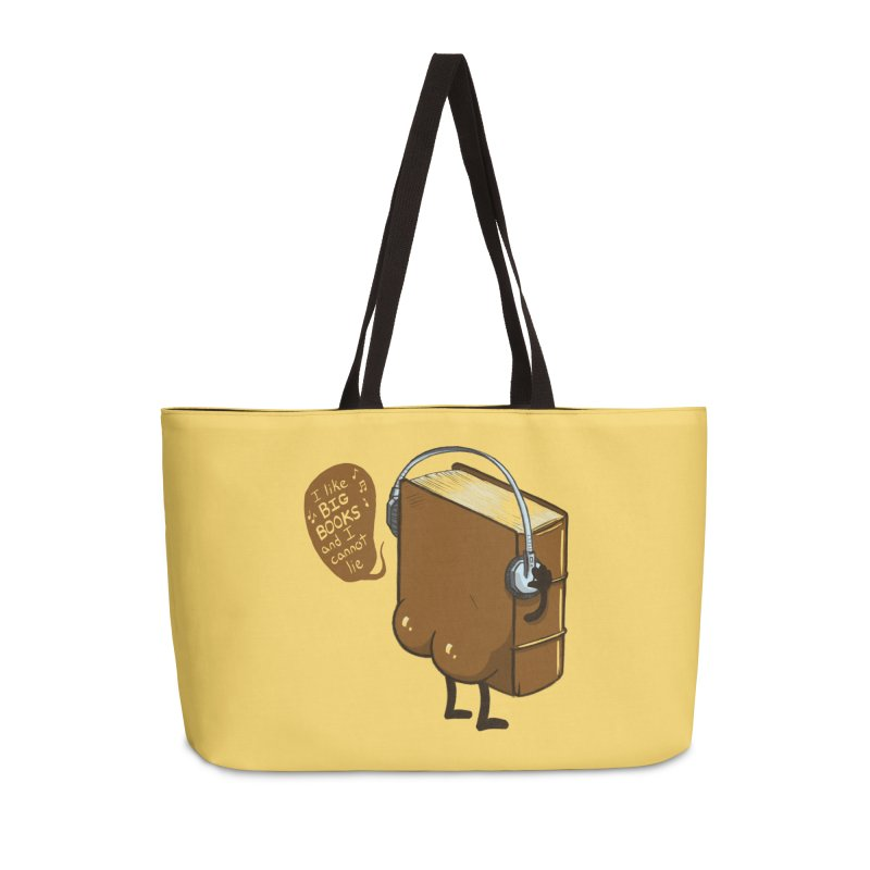I like BIG BOOKS Accessories Weekender Bag Bag by Luke Wisner