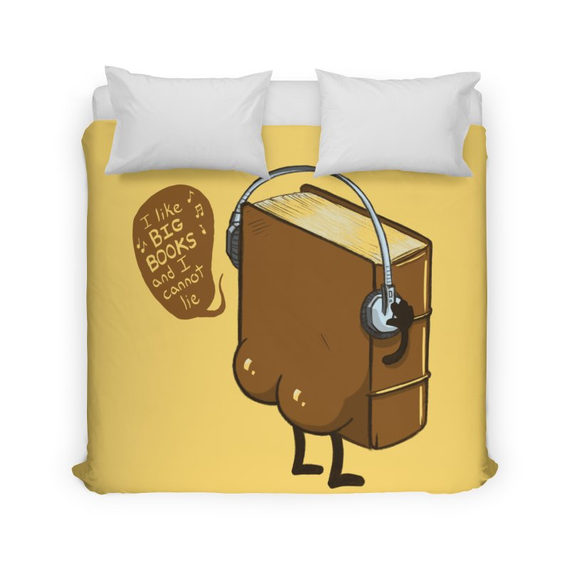 I like BIG BOOKS Home Duvet by Luke Wisner