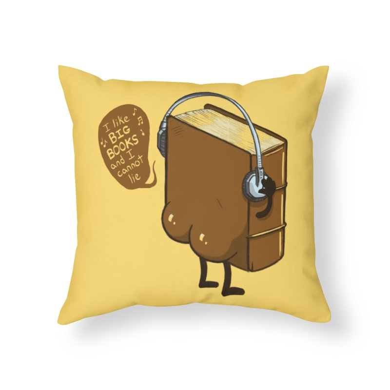 I like BIG BOOKS Home Throw Pillow by Luke Wisner