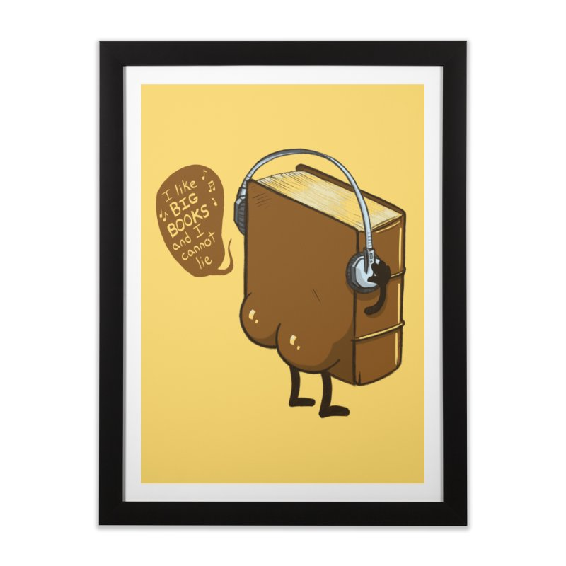 I like BIG BOOKS Home Framed Fine Art Print by Luke Wisner