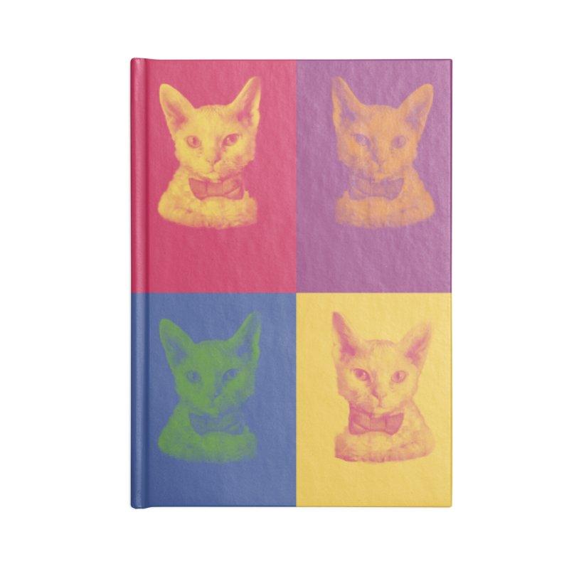 Pop Art Cat Accessories Notebook by Luke the Lightbringer Artist Shop