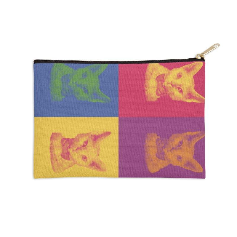 Pop Art Cat Accessories Zip Pouch by Luke the Lightbringer Artist Shop
