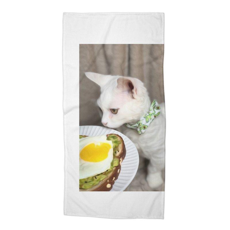 Hipster Cat Accessories Beach Towel by Luke the Lightbringer Artist Shop