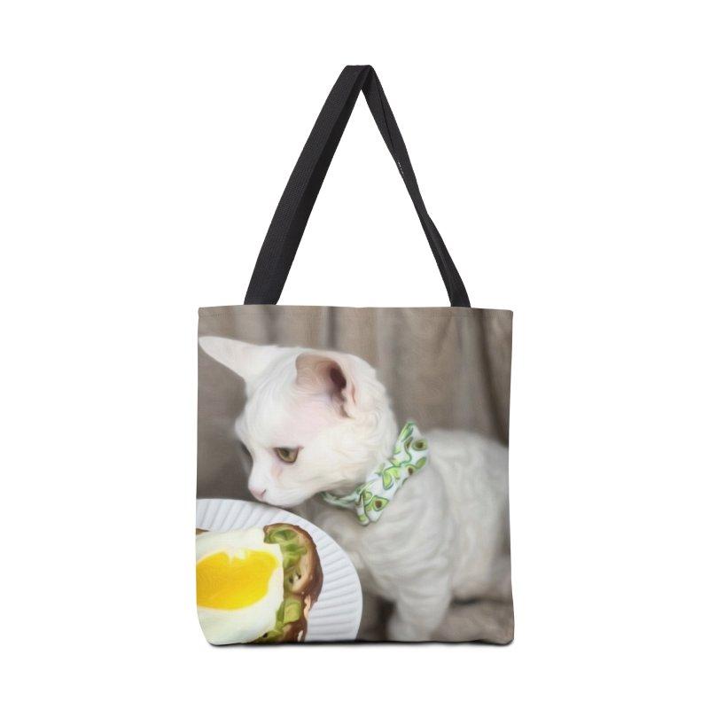 Hipster Cat Accessories Bag by Luke the Lightbringer Artist Shop