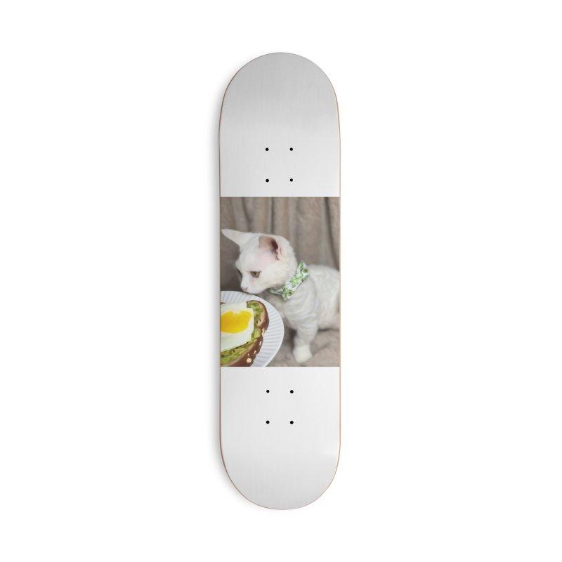 Hipster Cat Accessories Skateboard by Luke the Lightbringer Artist Shop
