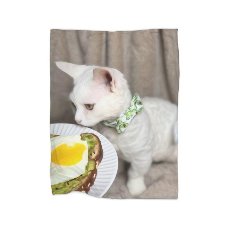 Hipster Cat Home Blanket by Luke the Lightbringer Artist Shop