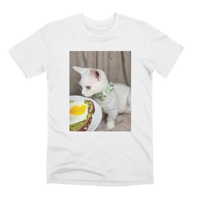 Hipster Cat Men's T-Shirt by Luke the Lightbringer Artist Shop