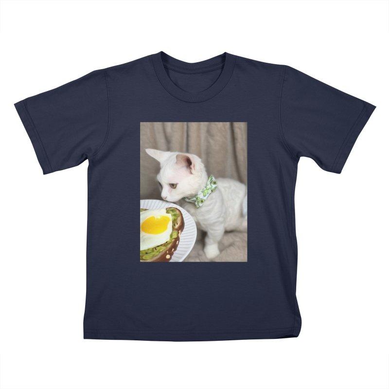 Hipster Cat Kids T-Shirt by Luke the Lightbringer Artist Shop