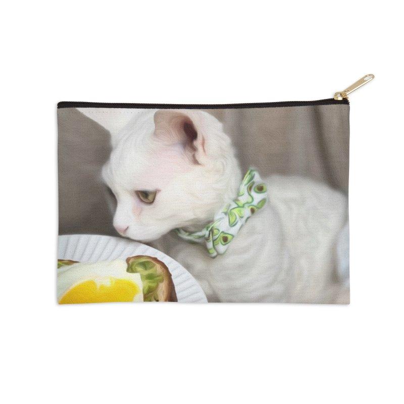 Hipster Cat Accessories Zip Pouch by Luke the Lightbringer Artist Shop
