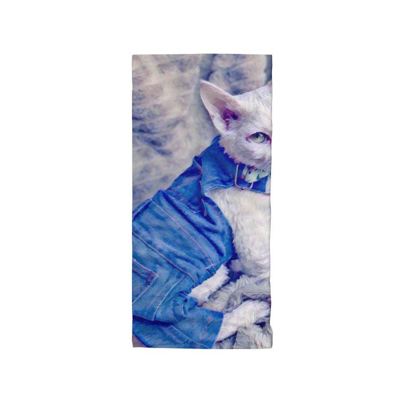 Kitty in Denim Accessories Neck Gaiter by Luke the Lightbringer Artist Shop