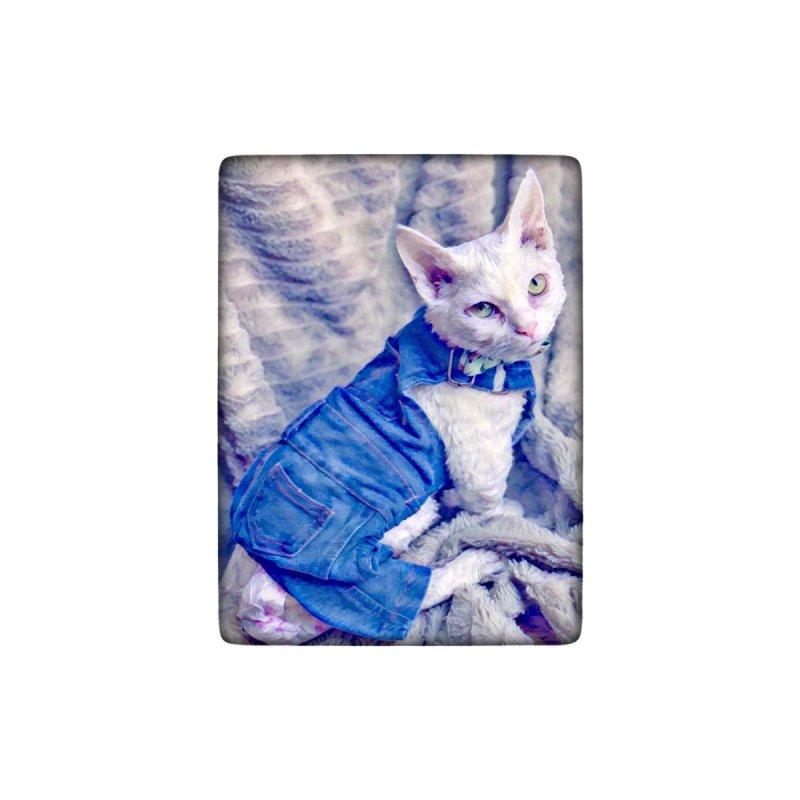 Kitty in Denim Women's V-Neck by Luke the Lightbringer Artist Shop