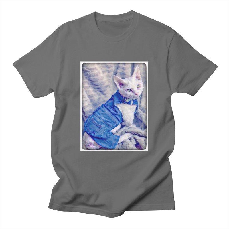 Kitty in Denim Men's T-Shirt by Luke the Lightbringer Artist Shop