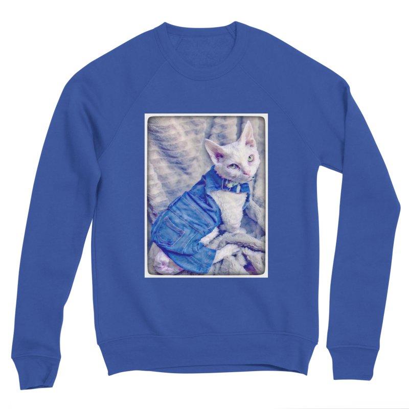 Kitty in Denim Women's Sweatshirt by Luke the Lightbringer Artist Shop