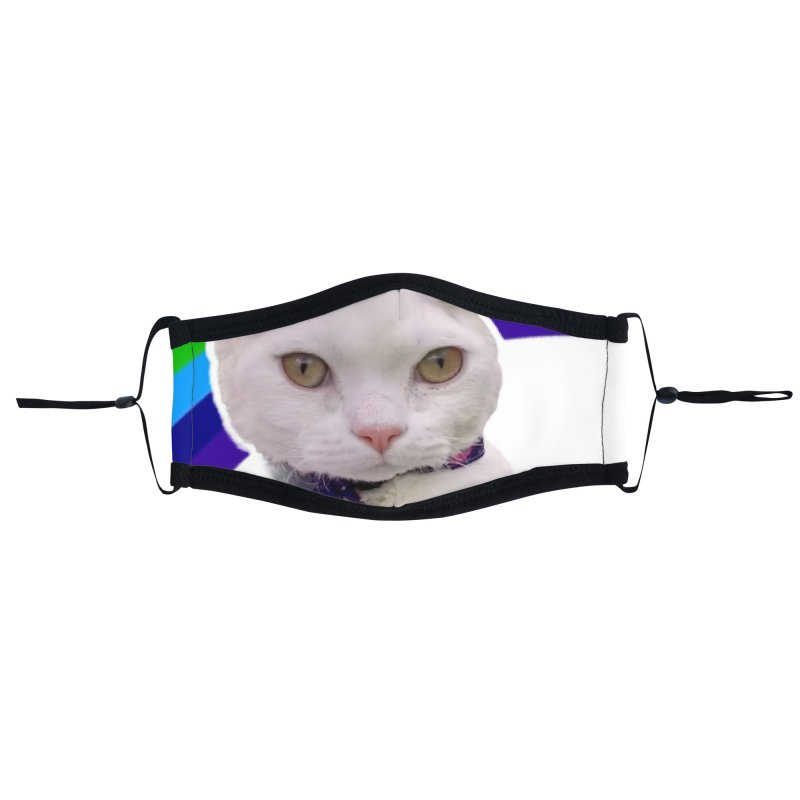 Pride Kitty Accessories Face Mask by Luke the Lightbringer Artist Shop