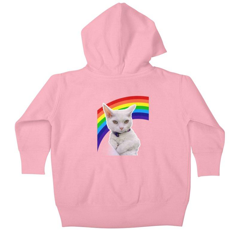 Pride Kitty Kids Baby Zip-Up Hoody by Luke the Lightbringer Artist Shop