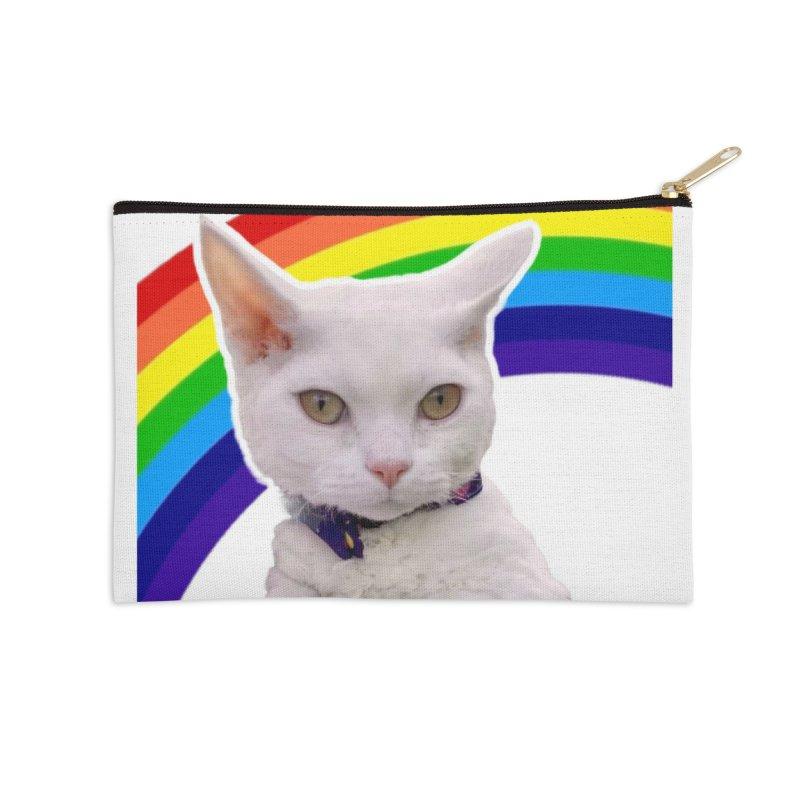 Pride Kitty Accessories Zip Pouch by Luke the Lightbringer Artist Shop