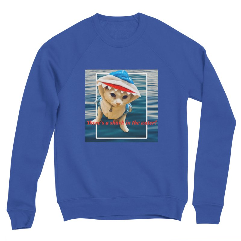 There's a Shark in the Water! Women's Sweatshirt by Luke the Lightbringer Artist Shop