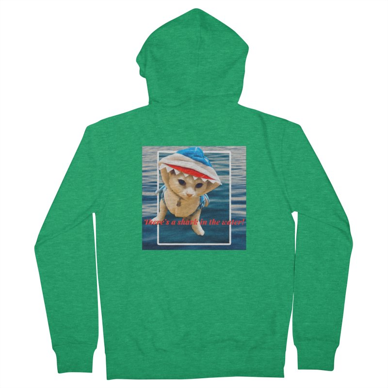 There's a Shark in the Water! Women's Zip-Up Hoody by Luke the Lightbringer Artist Shop