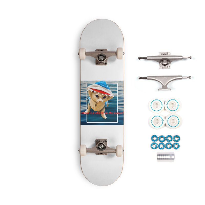 There's a Shark in the Water! Accessories Skateboard by Luke the Lightbringer Artist Shop