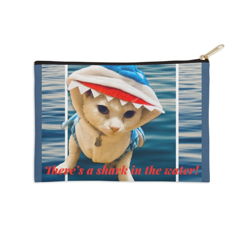 There's a Shark in the Water! Accessories Zip Pouch by Luke the Lightbringer Artist Shop