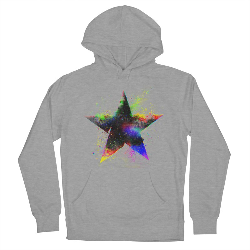 Shatter Star Women's French Terry Pullover Hoody by Lumi