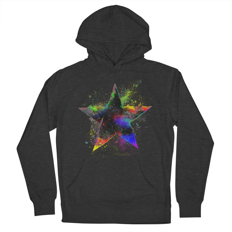 Shatter Star Men's French Terry Pullover Hoody by Lumi