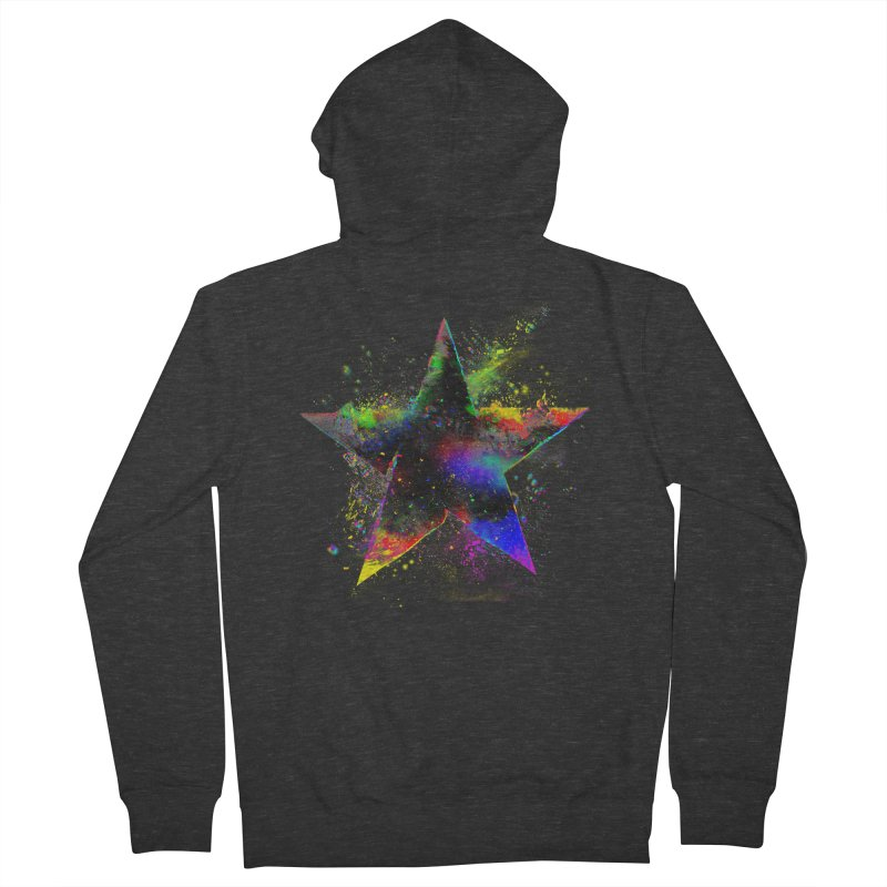 Shatter Star Women's French Terry Zip-Up Hoody by Lumi