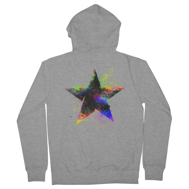 Shatter Star Men's French Terry Zip-Up Hoody by Lumi