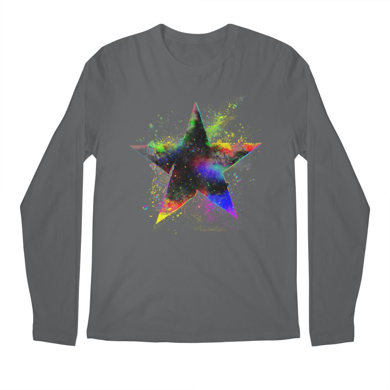 Shatter Star Men's Regular Longsleeve T-Shirt by Lumi