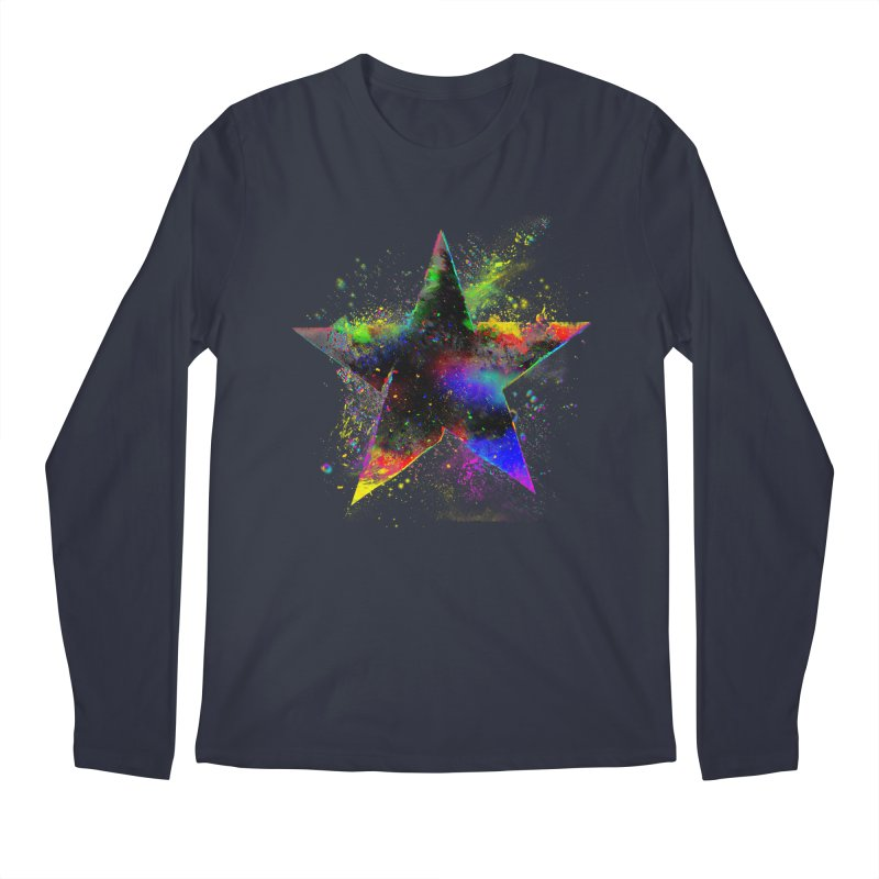 Shatter Star Men's Regular Longsleeve T-Shirt by Lumi